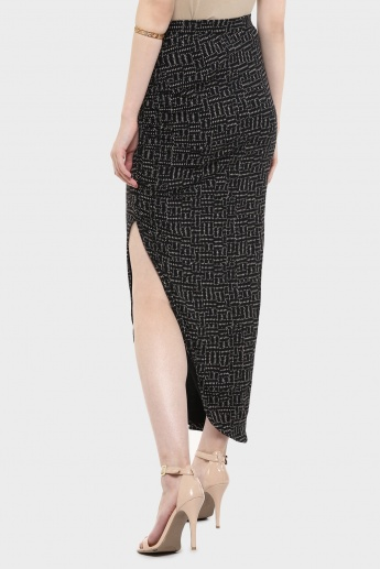 MAX Front Gather Slit Skirt