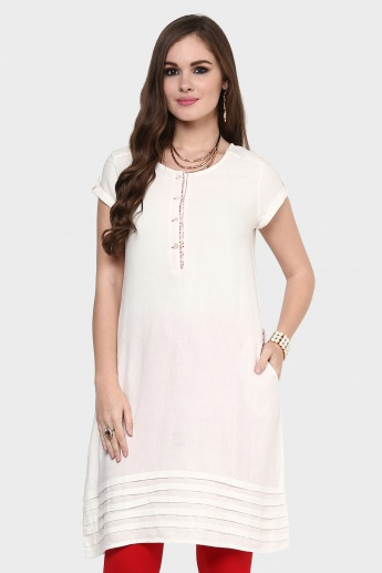 MAX Solid Pocketed Kurti