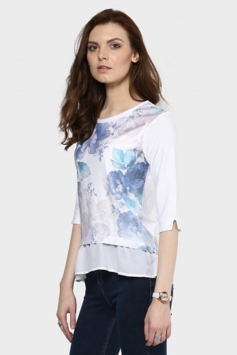 MAX Floral Print Layered Top