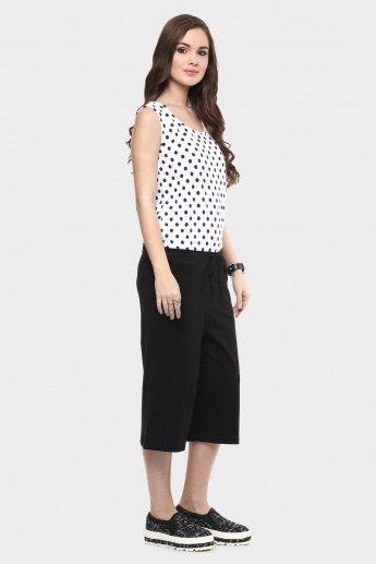 MAX Polka Dot Sleeveless Jumpsuit