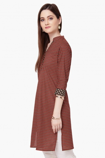 MAX Printed Band Collar Kurti