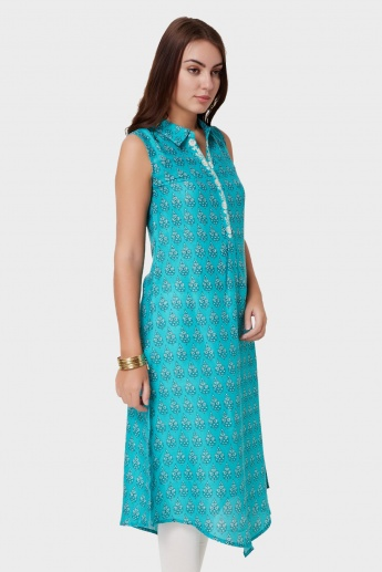 MAX Printed Shirt Collar Kurta
