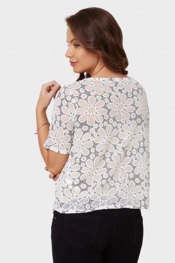 MAX Floral Bliss Round Neck Top
