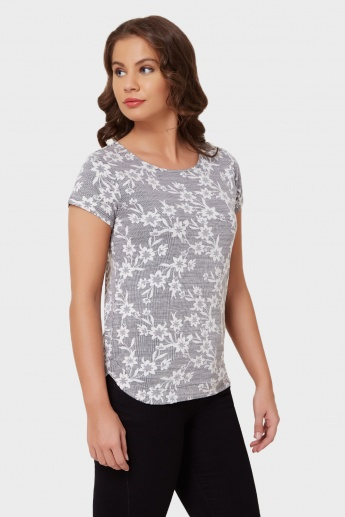 MAX Floral Fling Round Neck Top