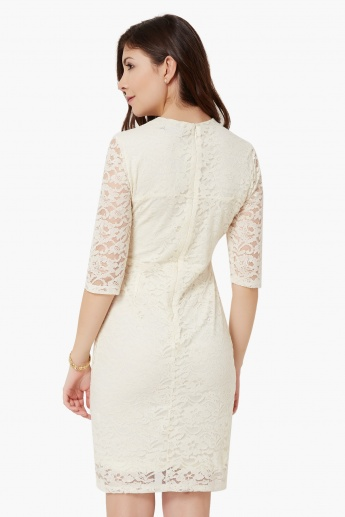 MAX Lace Overlay Dress