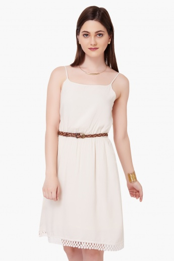 MAX Strappy Belted Dress