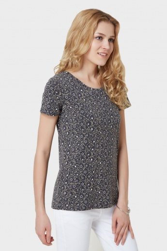 MAX Starry Print Slim Fit T-Shirt