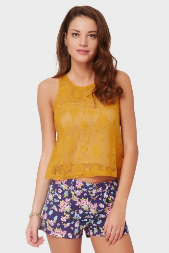MAX Sleeveless Semi-Sheer Top