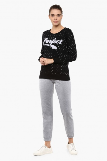 MAX Dot Print Full Sleeves Sweatshirt
