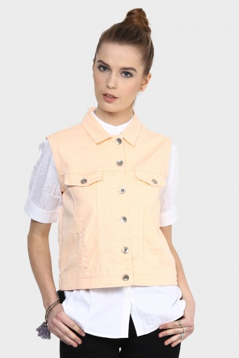 MAX Sleeveless Denim Jacket