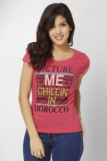 MAX Morocco Graphic Print Top