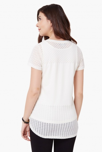 MAX Round Neck Short Sleeves Top