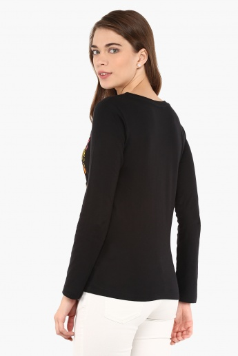 MAX Chest Imprint Full Sleeves Top