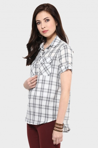 MAX High-Low Checks Print Shirt