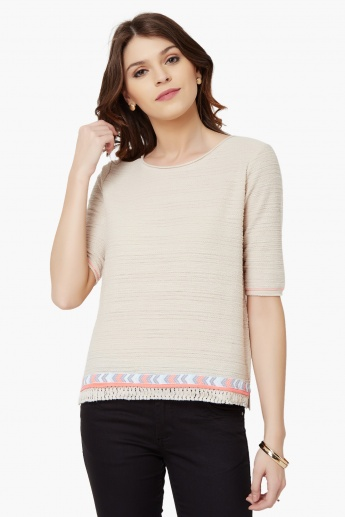 MAX Textured Knit Top