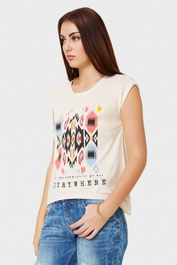 MAX Contemporary Ikkat Print Top