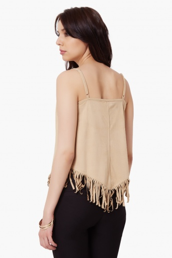 MAX Strappy Fringed Top