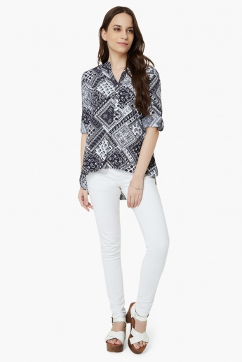 MAX Printed Roll-Up Sleeves Tunic