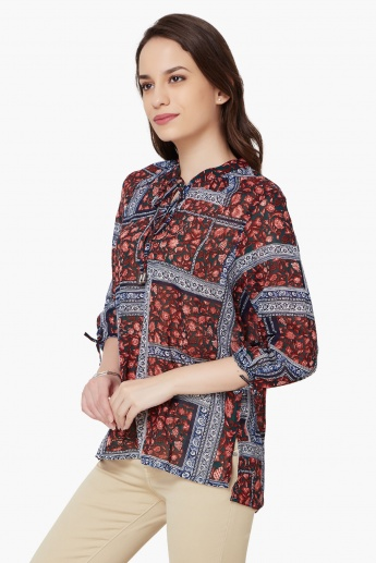 MAX Printed Tie-Up Tunic